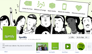 spotify facebook timeline Spotify Turns Facebook Timeline into History of Music