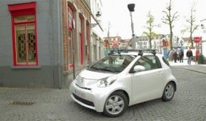 toyota iq google street view 300x177 Creative Brand Cross Promotion   Toyota iQ and Google Street View