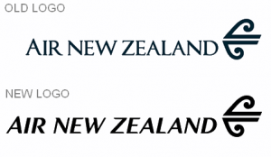 air new zealand logo old and new
