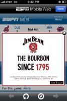 mobile ad jim beam