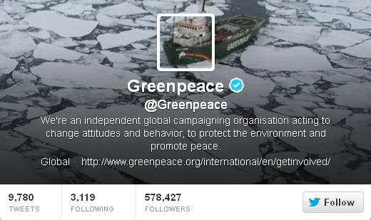 twitter greenpeace