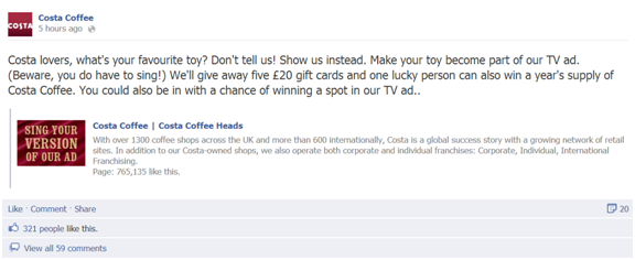 Costa fb How To Create The Perfect Corporate Facebook Page
