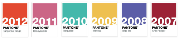 pantone color of the year 2007 to 2013