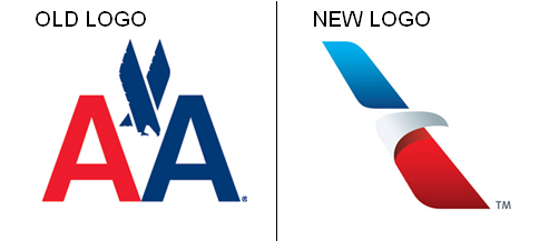 american airlines logo old and new