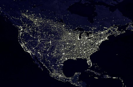 the night lights of the United States