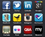 social networking mobile icons