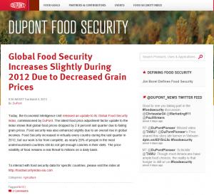 Dupont Food Security