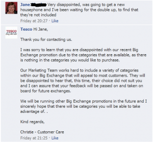 tesco customer service
