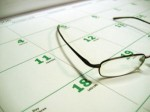 calendar with glasses