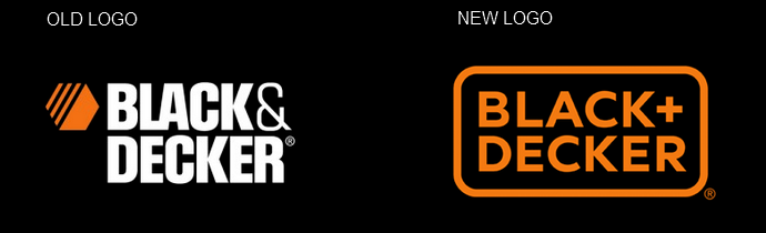 Black and Decker logo old new