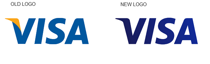 VISA logo old and new