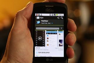 Twitter smartphone mobile app