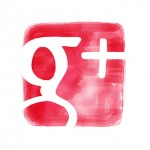 google plus icon watercolor