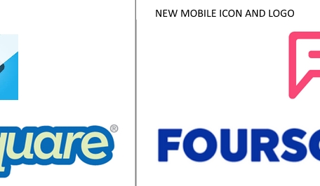 foursquare logo old and new