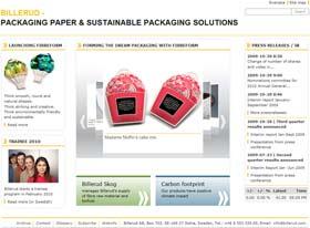 Billerud: Corporate Message in Clear Packaging