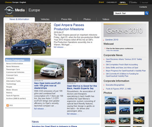 GM Europe (Opel) social media newsroom