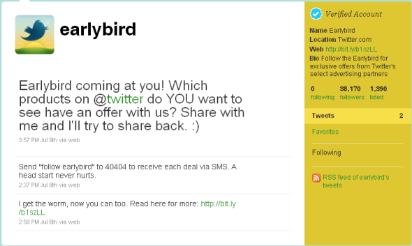 Twitter Explains What @earlybird