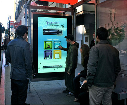 Yahoo! Bus Stop Derby Marries Interactive with Ambient Media