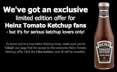 Heinz Launches Creative Facebook Promotion in U.K.