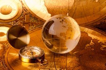 navigating globe