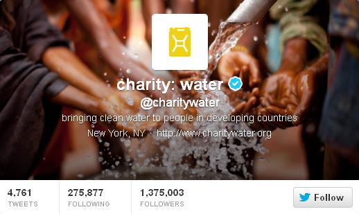 twitter charity water