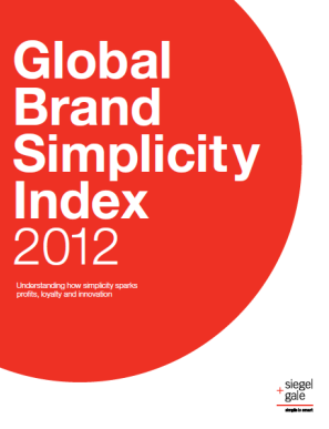 2012 Global Brand Simplicity Index Ranks Most Simple and Complex Brands