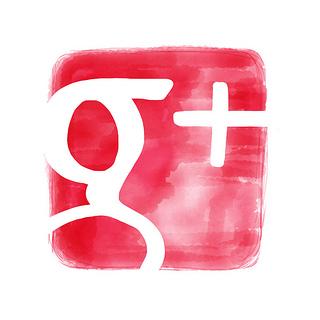 google plus icon watercolor