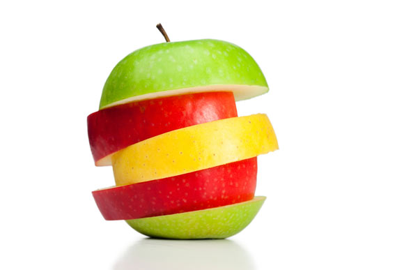 sliced apple representing recruitment strategies